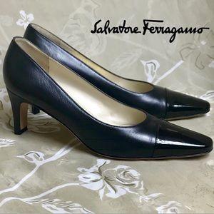 Salvatore Ferragamo Women's Leather Cap-toe Heels